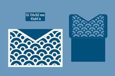 Template - envelope for laser cut. DIY laser cutting envelope. Wedding invitation envelope for cutting machine or laser cutting. Suitable for greeting cards, invitations, menus