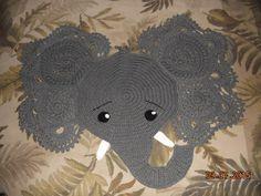 Declan's Elephant Rug - Crochet creation by Charlotte Huffman