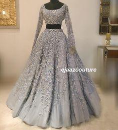 New indian bridal reception dress gowns beautiful ideas Indian Wedding Gowns, Muslim Wedding Dresses, Indian Gowns Dresses, Indian Bridal Outfits, Indian Fashion Dresses, Designer Wedding Dresses, Bridal Dresses, Wedding Mandap, Indian Bridal Lehenga