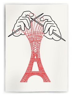 I need this in my life... Paris AND knitting?! love. Brooklyn and Paris – Christoph Niemann
