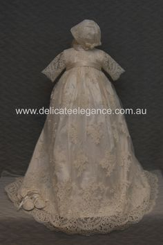 4264: Girls' Ivory Lace Christening Gown