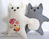 Baby Cat  Sewing Pattern - PDF printable - Tutorial, Easy, simple, cloth, teddy, plush, plushie, softie, doll, stuffed, soft, toy, baby. $7.00, via Etsy.