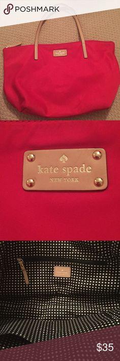 Kate Spade tote Like new, red Kate spade tote Kate Spade Bags Totes