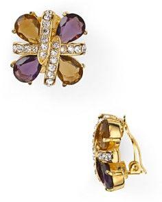 Carolee Gold Plated On Clip Earrings Online Serenity Garden Designer