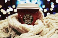 christmas, lights, starbucks, starbucks coffee, winter
