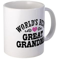 CafePress - World's Best Great Grandma - Unique Coffee Mug, 11oz Coffee Cup ** See this great image  : Coffee Mugs