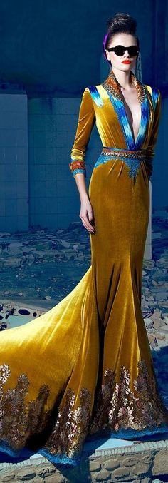 Nicolas Jebran Couture F/W 2013 _ love the colours