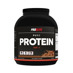 Pro Elite Pure Protein IGF-1 is a complete engineered protein blend consisting of a precise mixture of whey protein isolate, whey protein concentrate, calcium caseinate, egg albumen and soy protein isolate.