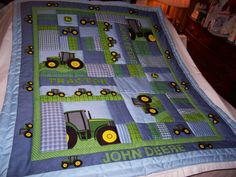 Hey, I found this really awesome Etsy listing at http://www.etsy.com/listing/167099151/handmade-baby-john-deere-tractors-cotton