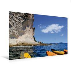 Kalkfelsen nahe Cathedral Cove (Premium Foto-Leinwand 45x30 cm, 75x50 cm, 90x60 cm, 90x60 cm)
