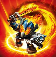 Photo of Skylanders: Ignitor for fans of Spyro The Dragon. A knight with powerful fire abilities.