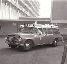 The first LA City paramedic unit, Rescue Ambulance 53 at Harbor General Hospital.