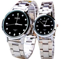 Scheppend Men and Women's New Analog Quartz Wrist Watch with Stainless Steel Strap,Black -- Additional details at the pin image, click it