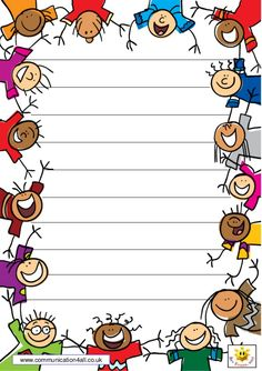 www.communication4all.co.uk Harmony Day Activities, School Age Activities, Activities For Kids, School Border, Notebook Cover Design, School Frame, Kids Background, School Labels, School Clipart