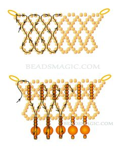 FREE Pattern Necklace SANTA BARBARA. Use: seed beads 11/0, round beads 6-8mm. Page 2 of 2