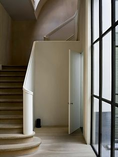 great window + stairs
