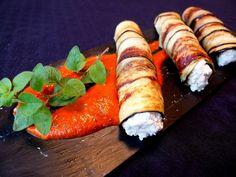Cocinando con Lola García: Rollitos de berenjenas al queso