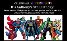 Hey, I found this really awesome Etsy listing at https://www.etsy.com/listing/195051735/20-postcard-super-hero-birthday