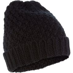 Accessorize Chunky Turnup Beanie Hat ($23) ❤ liked on Polyvore featuring accessories, hats, beanie, black, hair, black beanie, chunky beanie, chunky hat, beanie hats and chunky knit beanie