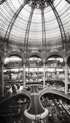 The Grand Staircase under the Cupola of the Galeries Lafayette, Paris