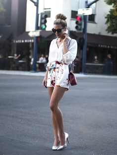 Floral Shorts by Love - lifestylerstore - http://www.lifestylerstore.com/floral-shorts-by-love/