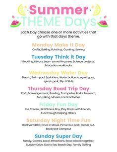 Day 41- Summer Theme Days plus FREE Printable {100 Days of Summer Fun} #247moms #iama247mom #momminitdaily #momlife #momcoach #motherhood Slip N Slide, Splash Park, Water Day, Local Activities, Trampoline Park, Theme Days, Water Balloons, Backyard Bbq, 100th Day