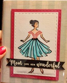 From the Hero Arts monthly card kit. Love the paper doll images.