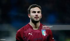 Goalkeeper Francesco Bardi of Italy looks on during the U21 International friendly match between...