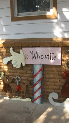 To Whoville Sign Approx 4ft tall by DestinysCustomDesign on Etsy, $89.00