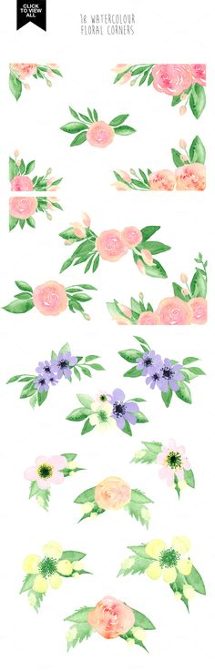 173 summer watercolor flowers - Illustrations - 5