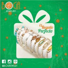 El regalo perfecto en esta Navidad, nuestras pulseras de perlas, plata y turquesa con piedras, circones. Encuéntralas en nuestra isla en el C.C. San Marino. #mixandmatch #bogalovers #bogajewelry #sanmarino