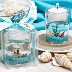 Amazon.com: Stunning beach-themed candle favor, 1: Health & Personal Care