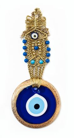 Evil Eye Wall Hanging turkish evil eye wall hanging, macrame like other 'eye's better