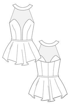 flat sketchhttp//wwwsewingavenue  fashion sketches