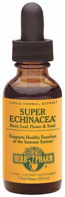 Herb Pharm SUPER ECHINACEA® I can't confirm if this stuff really does work but I can tell you when I get that first hint of scratchy throat, I start taking this and it's been 2.5 years since I've been sick.