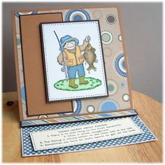 Handmade by Tillymint: Another Fishing card...
