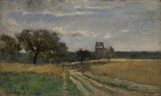 Charles-François DAUBIGNY (French painter, 1817-1978): Paysage / Landscape, c. 1860-1870; oil on panel