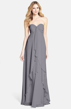 Free shipping and returns on Jenny Yoo 'Suri' Convertible Strapless Chiffon Dress at Nordstrom.com. A waterfall overlay romances this strapless chiffon dress, designed with twisted streamers at the sweetheart bodice that can be artfully arranged to create a variety of elegant looks.