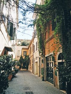 the alley way leading to our B&B was the most charming hidden spot | Rome travel guide from coco kelley