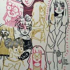 Art journal drawings of me