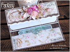 """FANTASY: Evenlope wedding card DIY / Как я это делаю: """"Свадебная открытка-конверт"""""""