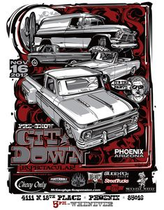 T-shirts and posters I designed for a local car show and party ...