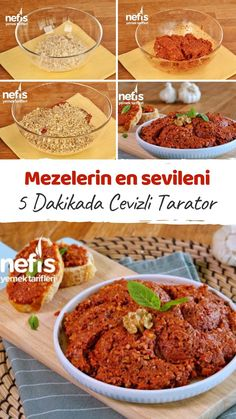 5 Dakikada Cevizli Tarator Tarifi – Nefis Yemek Tarifleri Video narration How to make Tarator Recipe with Walnuts in 5 Minutes? Video description of this recipe in the book of people and photos of those who try it are here. Best Salad Recipes, Lunch Recipes, Low Carb Recipes, Slow Cooker Recipes, Beef Recipes, Baking Recipes, Turkish Recipes, Italian Recipes, Eat Clean Recipes