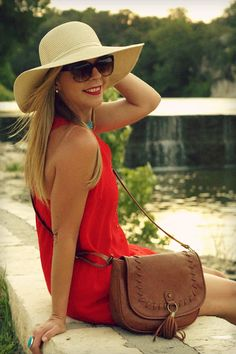 Summer staple - big floppy sun hat...big enough to keep sun off of you and baby
