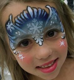 Snow Princess Christmas Face Paint Design