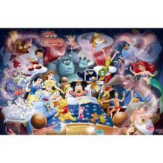 Disney Puzzle 2000 Pieces | Disney Mickey's Dream, 1000pc Jigsaw.
