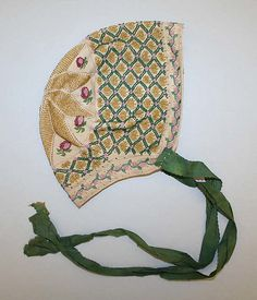 Cap Date: early 19th century Culture: European Medium: cotton, silk, glass beads