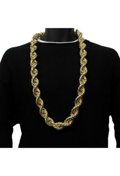 92312de94e8 Thick Rope Gold Necklace 25mm - WorldStarJewelry.com Gold Necklace