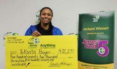 Lottery winner Yokasta Boyer - New Jersey Lottery