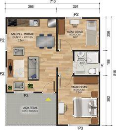 L Shaped House Plans, 3d House Plans, Cottage Style House Plans, Bungalow House Plans, Modern House Plans, Small House Plans, Home Design Plans, Plan Design, Single Storey House Plans